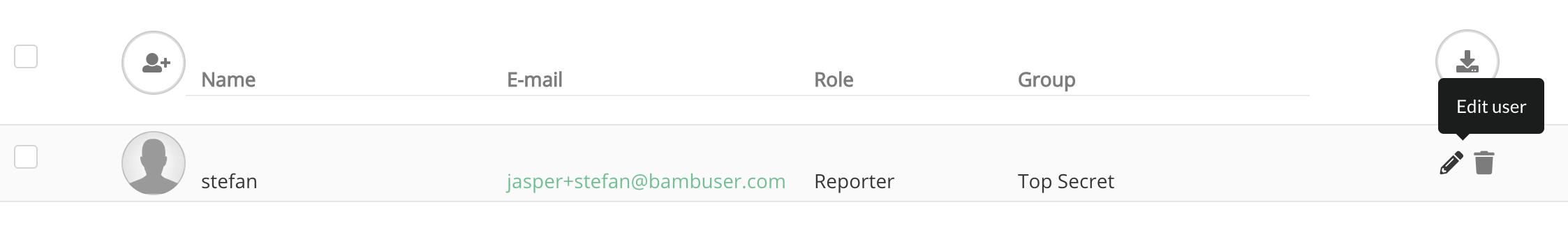 edit Bambuser user