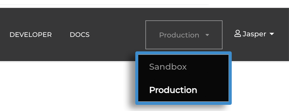 Bambuser environment selector